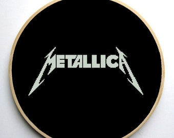Metallica - Cross stitch pattern PDF Instant Download