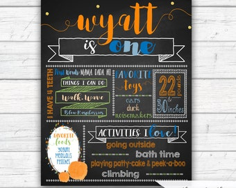 Pumpkin First Birthday Chalkboard Poster, Fall Birthday Sign, Birthday Milestones, Pumpkin Birthday, Photo Prop, Printable file or Printed