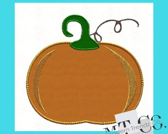 Pumpkin Applique Design 4x4 5x7 6x10