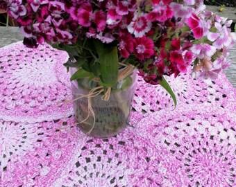 Handmade crochet placemats