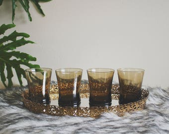 vintage glassware black drinking glasses vintage drinking glasses retro barware mid century modern barware bar cart accessories boho decor