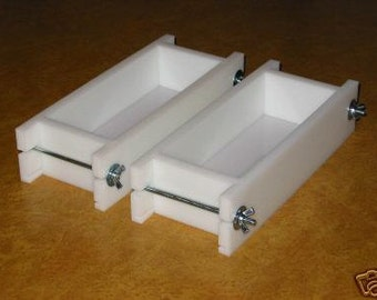 Soap mold two 1-2 Lb No Liner Soap Molds Wooden Lids & Cutters Avail E