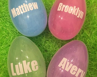 Personalized Large Easter Basket Egg Custom Pink Blue Purple Green