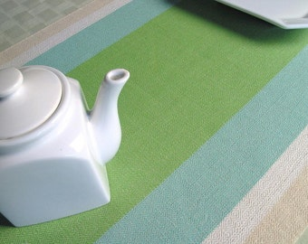 yardage in green and cream