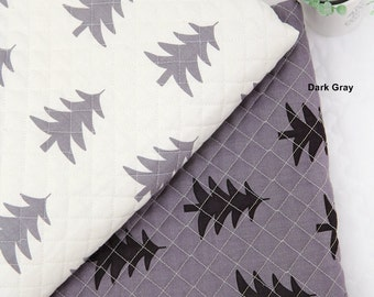 Quilted Oxford Cotton Fabric Tree in 2 Colors By The Yard