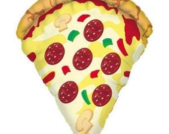 "Huge 38"" Pizza slice balloon. Pizza lover. Pizza party. pizza balloon. carnival balloons. pizza stand. kid balloon. pizza party decor"