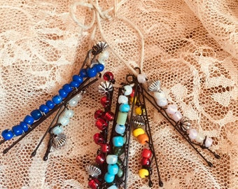 Beaded Hair Pins / Beaded Bobby Pins / Hair Accessories