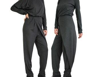Long sleeve jumpsuit/ Women jumpsuit/ Plus size jumpsuit/ Harem jumpsuit/ Long romper/ Loose jumpsuit/ Women overall Plus size jumper MARIAH