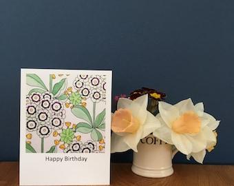 Auriculas Greetings Card