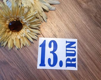 13. Run Vinyl Decal