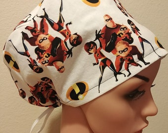 Women's Surgical Cap, Scrub Hat, Chemo Cap,  The Incredibles