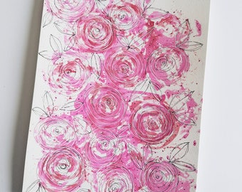 Original Abstract Watercolor Painting | Floral Illustration | Flower Illustration | Abstract Flowers | Wall Art | Home Decor | Flower Art