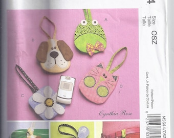 McCall's Crafts M5644 from 2008. Cell Phone Case, Dog, Cat, Frog, Flower UNCUT