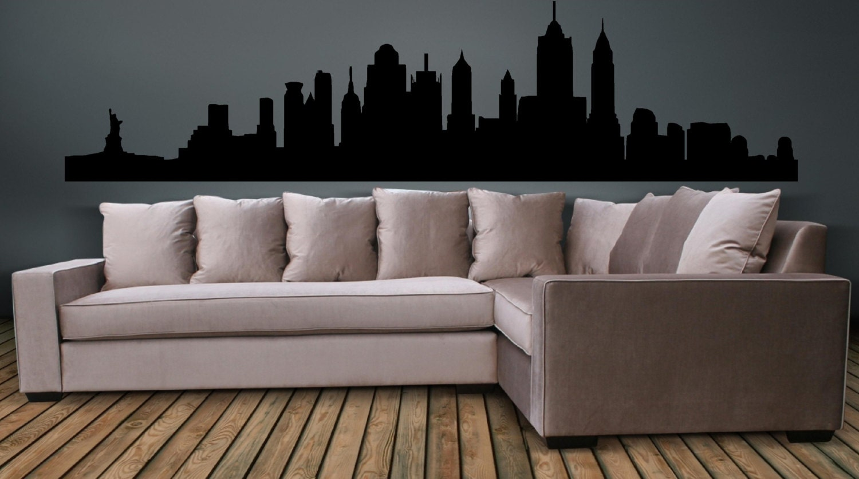 ?zoom & New York City Skyline Wall Decal Wall art Sticker