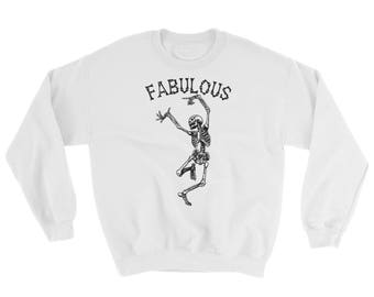 Fabulous Skeleton Crewneck Sweatshirt, fall, autumn, Halloween