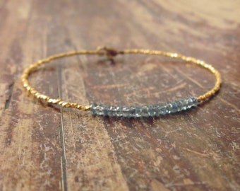 Sapphire Bracelet, Sapphire Bracelets, September Birthstone Bracelet, Sapphire Birthstone Jewelry Beaded Bracelets Bead Bracelet