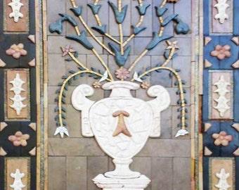 Antique Mosaic Vase Design
