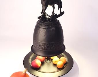 Fruit bowl (illuminated) with horse
