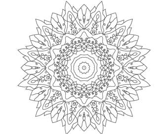 MANDALA Coloring Sheet Adult Mandalas Sheets Book For Adults Books Mandala
