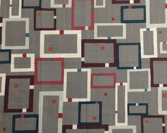 Etoffe Imprevue Cotton Canvas from Lecien - Full or Half Yard Modern Geometric on Taupe
