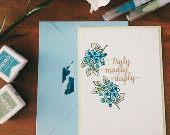 TRULY, MADLY, DEEPLY Greeting Card