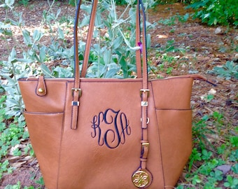 Monogram purse tote - Seasons Best Bag designer inspired bag- monogram pocketbook - brown monogram bag~ Buyers Favorite