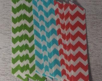 Beach Chevron Fabric Washi Tape, 12 strips