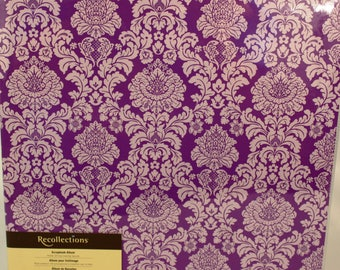 Recollections Purple / White Plume 12x12 Scrapbook
