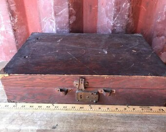 Vintage Wood Box  Rustic