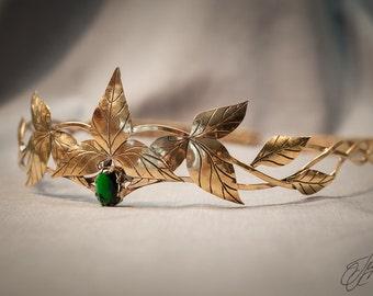 Elven diadem, Elf Leaf Crown, wedding Tiara, bridal headband, bride jewelry, fantasy tiara, lotr circlet, lord of the rings jewelry Telgelin