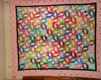 Queen Size Bed Quilt  / Double size quilt Free Spirit 23