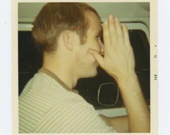 Vintage Snapshot Photo: Distracted Driver, 1971 (610513)