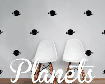 Planets Wall Decal Pack, Vinyl Wall Sticker Decal Art Pattern WAL-2169