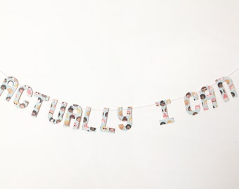 Actually I Can banner on girl group patterned paper