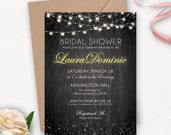 Rustic Bridal Shower Invitation Printable / Printable Bridal Shower Invitation / Rustic Shower Invitations / Wedding Shower Invitation