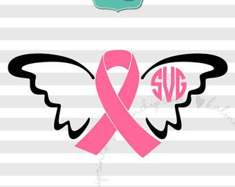 Pink ribbon svg, cancer svg, breast cancer svg, breast cancer t-shirt, pink ribbon svg, ribbon svg, fight cancer svg, svg file.   ca3