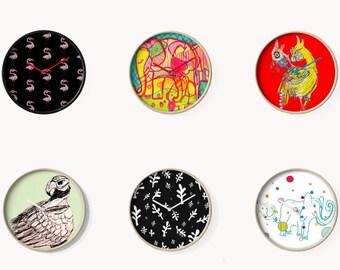 Bamboo  Clock, home decor, homewares, elephant, eagle, bird, pattern