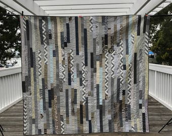 Gray stripes quilt