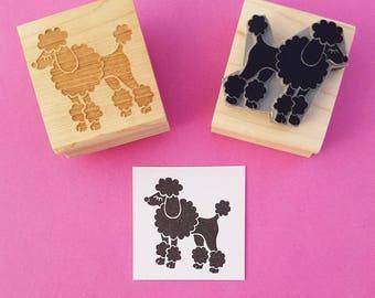 Dog Rubber Stamp - Fancy Poodle Rubber Stamp - Gift for Dog Lover - Animal Lover Gift - Poodle Gift - Dog Gift - Pet Present - Cute Stamp