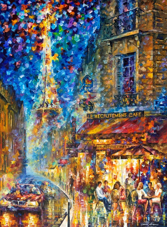 Paris Flight Palette Knife Oil Painting On Canvas Abstract Wall Art
