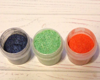 Lot of 3, Mica Pigment, Soap Pigments, Soap Making, Mineral Cosmetic, Shimmer powder, Nail art, Makeup, Lotion, Natural Colorant, DIY