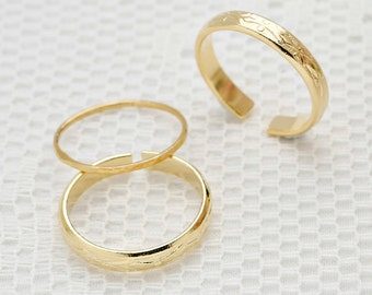 gold ring- 2 gold rings- Filigree ring- Stacking rings- stacking gold rings- dainty ring- knuckl ring-  tiny ring- bridesmaids ring
