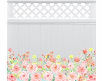 Privacy Fence Decals - Garden Art