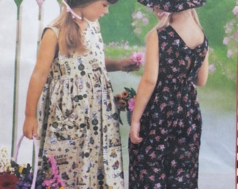 Mary Engelbreit Designs Mccalls 3590 Girls Sleeveless Dress,Jumpsuit, Hat Pattern Girls Sizes 3-5