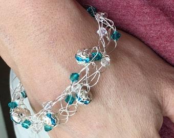 Wire Crochet Bracelet #3