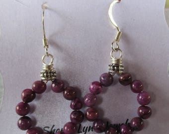 Sugilite Hoop Earrings  E1025172