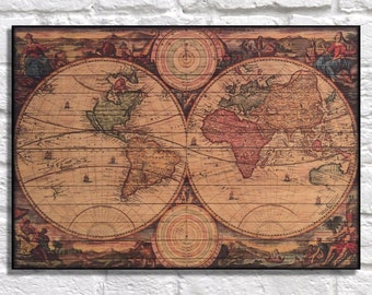 Wooden world map etsy wood world map wood wall art wooden map travel gift for men gift for husband gift gumiabroncs Images
