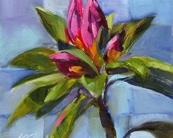 flower print // home decor // art print // giclee print // pink flower print // home decor // wall art // art print // flower art