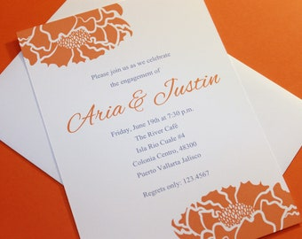 Peony Invitation (different colors to choose from)