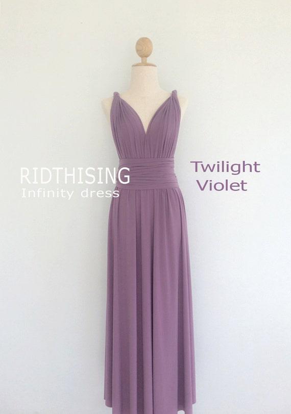 Maxi Twilight Violet Bridesmaid Dress Infinity Dress Prom